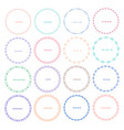 set of colorful round frames for decoration vector image vector image