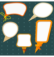 set of colors speech bubbles vector image vector image