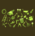 set of garden tools vector image vector image
