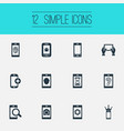 set of simple telephone icons vector image vector image