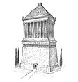 seven wonders ancient world mausoleum vector image vector image