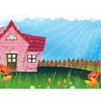 Small rural house vector image vector image