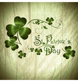 StPatrick day greeting with shamrocks vector image vector image