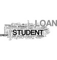 what student loan is right for you text word vector image vector image
