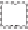 white book icon vector image vector image
