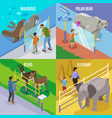 zoo animals isometric design concept vector image vector image
