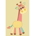 application giraffe vector image