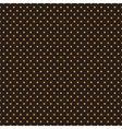 Seamless orange polka dots on black background vector image