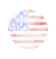 Watercolor USA Flag Patriotic background vector image