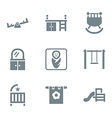 gray icon set places for child vector image