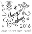 Set of Hand-drawn Outlined Christmas Doodle Icons vector image