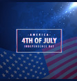 4th july american independence day background vector image vector image