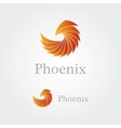Abstract phoenix logo vector image