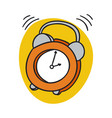alarm clock ringing wake up morning time vector image vector image