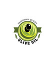 badge for olive oil production plant vector image