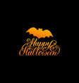 bat with happy halloween vector image vector image