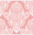 beautiful pink flourish seamless pattern vector image vector image