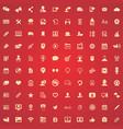 blog 100 icons universal set for web and ui vector image