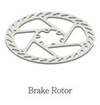 brake rotor icon isometric 3d style vector image vector image