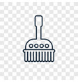 brush cleanin concept linear icon isolated on vector image vector image