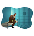 businessman in jail vector image