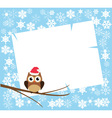 card winter vector image vector image