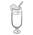 cartoon image of cocktail icon glass symbol vector image vector image