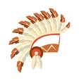 chief war bonnet headdress native american indian vector image vector image