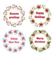 christmas and new year wreath set vector image vector image