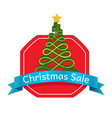christmas sale abstract tree logo topped by star vector image vector image