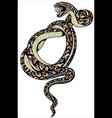 coiled snake tattoo vector image vector image