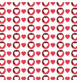 color pattern with hearts in white background vector image