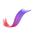 colorful brushstroke or curvy ribbon shape of vector image