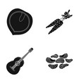cooking music and other web icon in black style vector image vector image