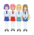 cute anime or manga girl icon image vector image vector image