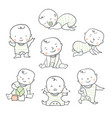 cute baby for baby shower vector image vector image