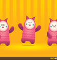 Cute Pink Pinata Monsters vector image