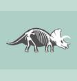 dinosaurs skeleton silhouette bone tyrannosaurus vector image