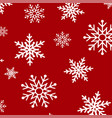 falling snow and snowflakes winter background vector image vector image