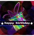 Festive card gift box vector image vector image