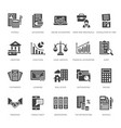 financial accounting flat glyph icons bookkeeping vector image