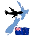 fly me to the New Zealand vector image