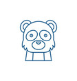 funny panda line icon concept funny panda flat vector image vector image