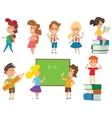 Group school kids going vector image vector image