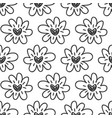 hand drawn flowers hearts seamless pattern vector image