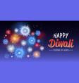 happy diwali traditional indian lights hindu vector image vector image
