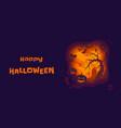happy halloween banner pumpkin lantern vector image