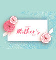 happy mother s day greeting card pink pastel vector image vector image