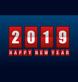 happy new year 2019 with odometer number counter vector image