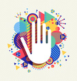 Help Hand icon concept color shape background vector image vector image